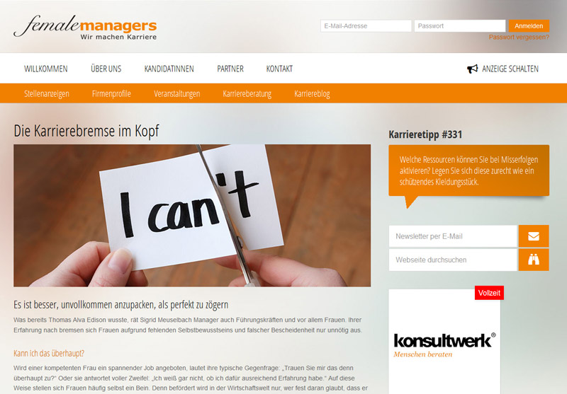 www.femalemanagers.de
